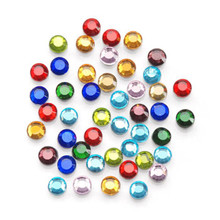 750 Hot Fix Glass Flat Back Round Rhinestones ~ 4mm Assorted Colors