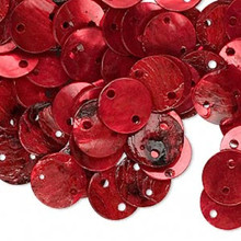 100 Dark Red Mussel Shell Flat Round Coin LINKs ~ 10mm  *