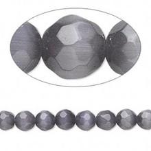 1 Strand Mountain Purple Cat's Eye Fiber Optic Glass Faceted 6mm Beads *