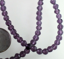 1 Strand Tanzanite Purple Faceted 4mm Round Glass Beads *