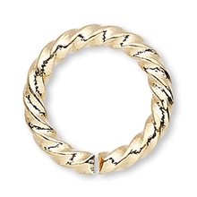 100 Gold Plated Brass 10mm Fancy Twisted 16 Gauge Jump Rings