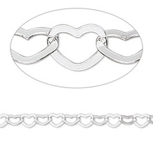 1 Sterling Silver HEART Necklace with Lobster Clasp ~ 18 Inches Long