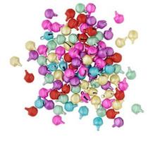 100 Steel Matte Multi Pastel Jingle Bells   ~ 6mm