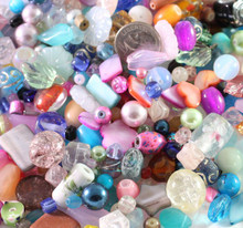 1/2 Pound Transparent & Opaque Multi Glass Beads  ~  Value Mix!  *