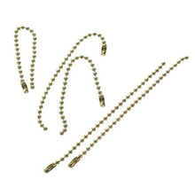 28 Gold Brass Ball Chains   ~ 2.4mm x 4 inches Long with Connector Clasps