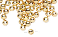 100 Gold Plated Brass 3mm Smooth Round Beads
