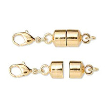 1 Large Gold Plated Brass Magna Clasp 28x7mm Magnetic Converters