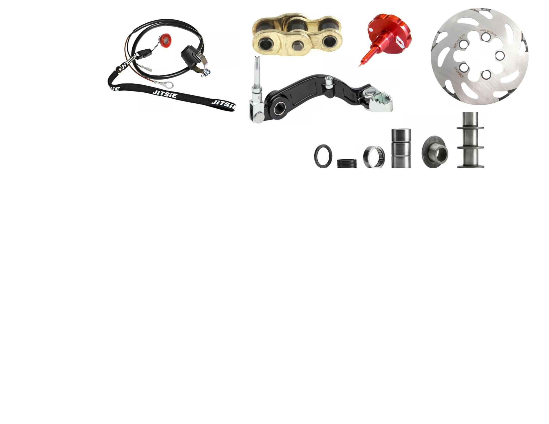 Parts, tools, fluids