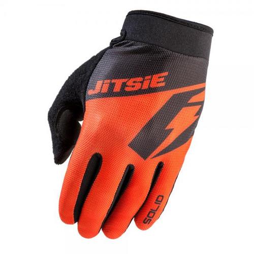 Trials gloves G2 solid, red/black