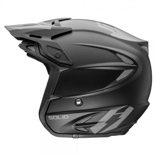 HT2 Solid helmet by Jitsie, matt black/ grey, fiberglass