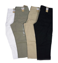 WOMEN'S DKNY COTTON STRETCH CROPPED KHAKI CAPRI PANT
