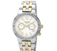 Anne Klein NY Women's 12/2093WMTT Crystal Accented Stainless Steel Watch