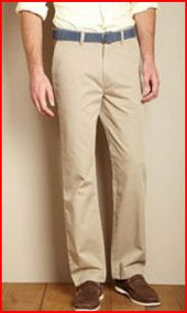 NAUTICA MEN'S 100% COTTON TWILL KHAKI PANT DRESS & CASUAL