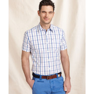 TOMMY HILFIGER 100% COTTON EASTBURN POPLIN SHORT SLEEVE SHIRT