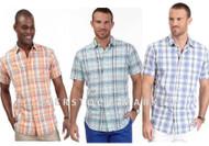 MEN'S NAUTICA LINEN BLEND CLASSIC WOVEN SHIRT