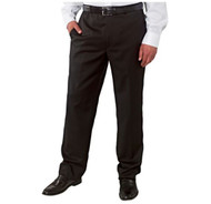 MEN'S KIRKLAND SIGNATURE ITALIAN WOOL FLAT FRONT DRESS PANT