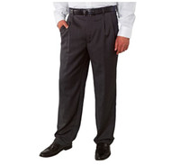 MEN'S KIRKLAND SIGNATURE ITALIAN WOOL PLEATED FRONT DRESS PANT