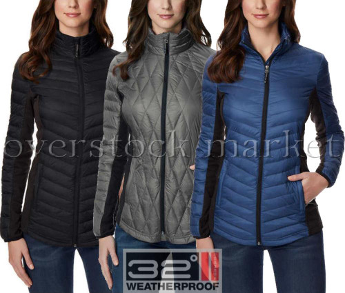 6affe1045 WOMEN S WEATHERPROOF 32 DEGREES ULTRA LIGHT DUCK DOWN SOFT SHELL ...