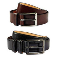 MEN'S KIRKLAND SIGNATURE GENUINE ITALIAN LEATHER BELT
