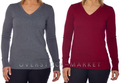 0fb0440d372 WOMENS KIRKLAND SIGNATURE V-NECK SWEATER! - Overstock Market