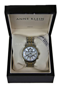 Anne Klein Two Tone Mother Pearl Stainless Watch 12/2149WMTT