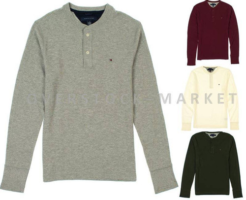 ff6b0f91 MEN'S TOMMY HILFIGER THERMAL HENLEY LONG SLEEVE SHIRT! - Overstock ...