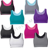 WOMENS CHAMPION DOUBLE DRY SEAMLESS SPORTS BRA REVERSIBLE TO MESH