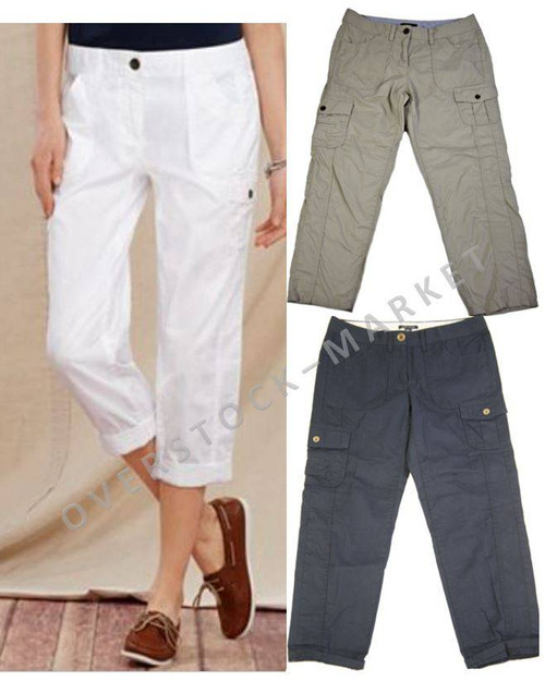 5b72317a WOMEN'S TOMMY HILFIGER CROPPED CARGO PANTS! - Overstock Market