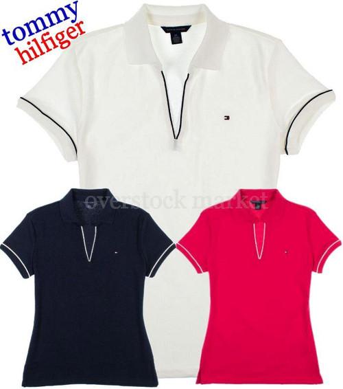 57479604 WOMENS TOMMY HILFIGER EMMA CLASSIC POLO V-NECK SHIRT! - Overstock Market