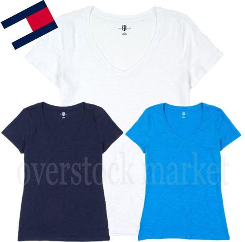 1b0a8ddf WOMENS TOMMY HILFIGER SLUB V-NECK TSHIRT! V NECK TEE! - Overstock Market