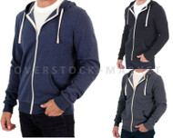 MEN'S ABBOT & MAIN SHERPA HOODIE SWEATSHIRT LONG SLEEVE ZIP FRONT