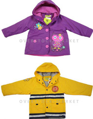 WESTERN CHIEF YOUNG BOYS & GIRLS FLEECE LINED RAINCOAT RAIN JACKET!
