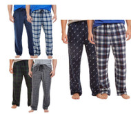 MEN'S NAUTICA 2 PACK SOFT SUEDED FLEECE PAJAMA PANTS BOTTOMS VARIETY