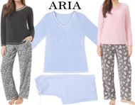WOMEN'S ARIA FLEECE & MICRO SPANDEX PAJAMAS 2 PC SET