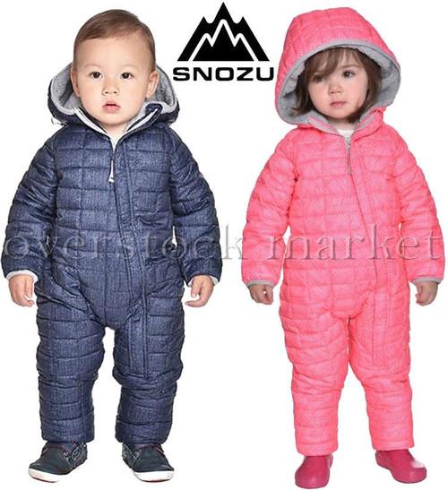 c638de6a1e5f SNOZU INFANT FLEECE LINED QUILTED SNOWSUIT WINTER SNOWSUIT BOYS ...