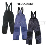 NEW! WEATHERPROOF 32 DEGREES BOYS 4-WAY STRETCH WINTER SKI BOARDER SNOW BIB PANT