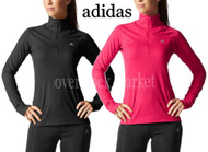 WOMENS ADIDAS 1/2 ZIP CLIMALITE PULLOVER ACTIVE JACKET CLIMALITE FABRIC