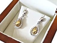 Womens 14kt Gold Tear Drop Earrings