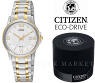 Women's CITIZEN EW1914-56P Eco-Drive Two-Tone Solar Powered Watch