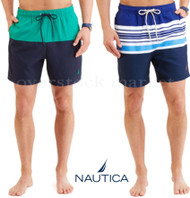 MEN'S NAUTICA VOLLEY SWIM SHORTS SWIM TRUNKS SWIMWEAR