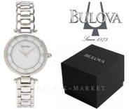 Bulova Stainless Steel Mother of Pearl Dial Quartz Watch 96L185
