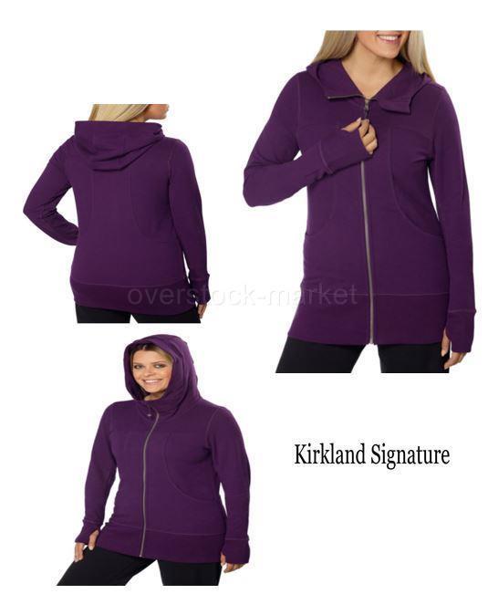 Kirkland Signature Women/'s French Terry Hoodie Black