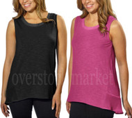 WOMENS ADRIENNE VITTADINI HIGH LOW SLEEVELESS TOP! LIGHTWEIGHT TANK!