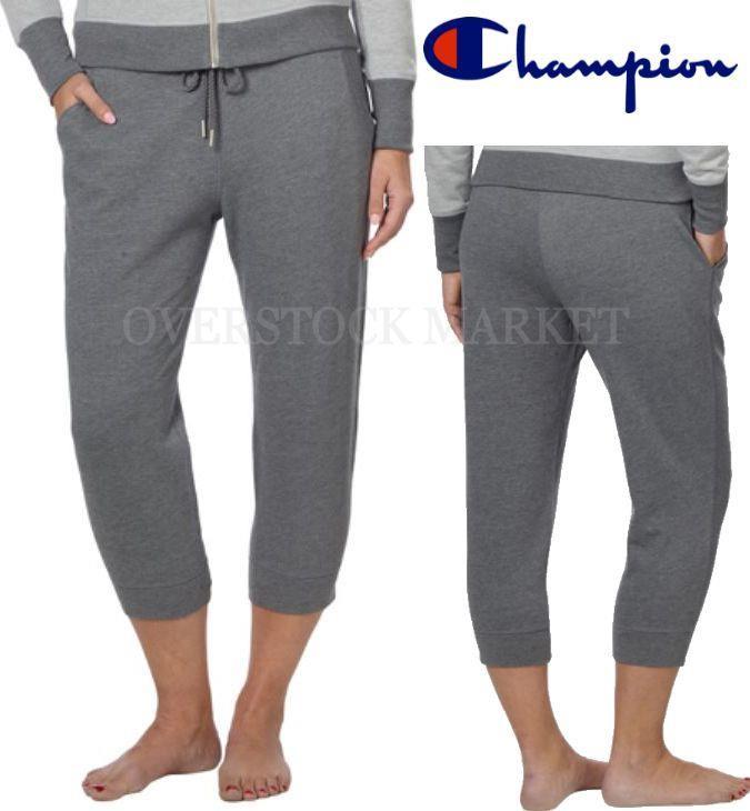New Champion Elite Women's French Terry Cropped Capri Sweatpants Pants XL