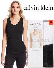 WOMENS CALVIN KLEIN COTTON BLEND STRETCH TANK TOPS 2 PACK!