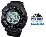 MENS CASIO PROTREK PATHFINDER MULTI-FUNCTION ATOMIC SOLAR WATCH PRW2500