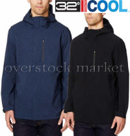 MENS WEATHERPROOF 32 DEGREES COOL FULL ZIP HOODED RAIN JACKET!