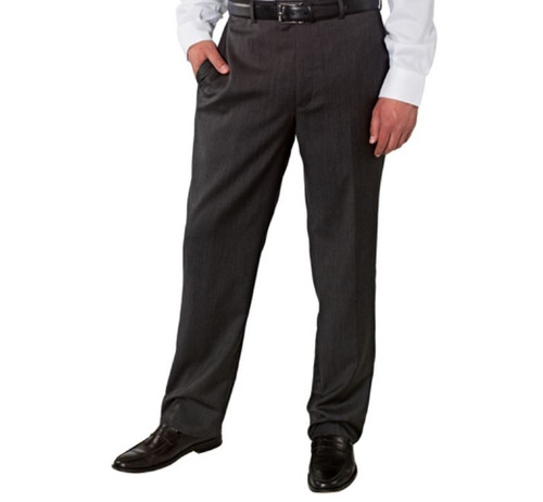 70ec68e0 1006162-MEN KIRKLAND SIGNATURE GARBADINE WOOL FLAT FRONT DRESS PANT ...