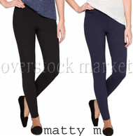 NEW WOMENS MATTY M SLUB PONTE PANT! PULL-ON LEGGING PONTE PANT!