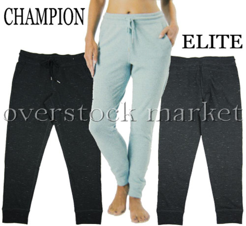 19305142698197 ... WOMENS CHAMPION ELITE FRENCH TERRY JOGGER SWEATPANT ATHLETIC PANT.  Image 1